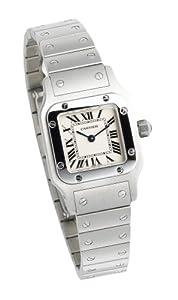 "Cartier Women's W20056D6 ""Santos"" Stainless Steel Casual Watch"