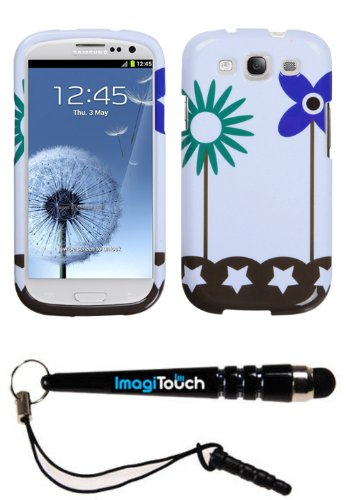 ImagiTouch(TM) SAMSUNG Galaxy S III (i747 L710 T999 i535 R530 i9300) Flowers in Fresh Wind Phone Protector Cover Design Snap on Hard Shell Cover Protector Faceplate