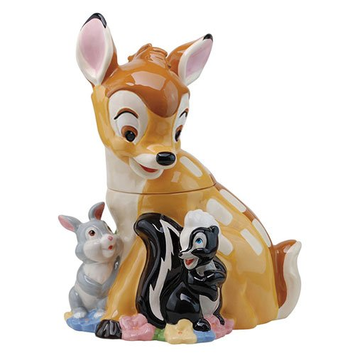 Bambi, Thumper & Flower Ceramic Cookie Jar
