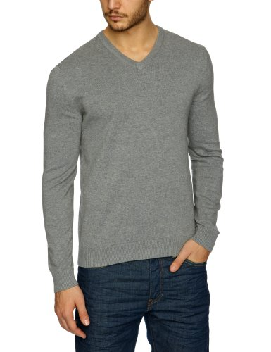 Esprit N32308 Men's Jumper Medium Grey Melange XX-Large