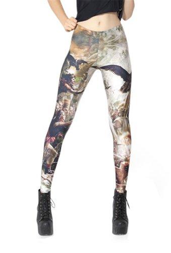Women'S Fashion Digital Print Napoleon Oil Painting Pattern Sexy Leggings