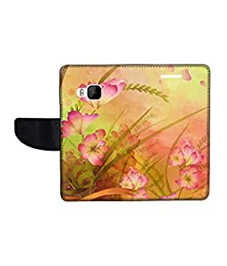 KolorEdge Printed Flip Cover For HTC One M9 Multicolor - (1478-50KeMLogo09962HTCM9)