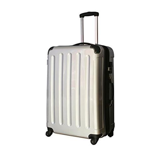 ファスナー スーツケース 5780 セミ大型 シルバー 拡張ファスナー