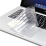 """TopCase Extra slim Transparent TPU Keyboard Cover Skin for Apple Macbook with TOPCASE Mouse Pad (13"""" MACBOOK PRO WITH/WITHOUT RETINA DISPLAY, CLEAR)"""