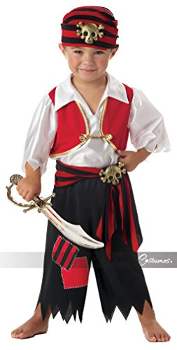 Ahoy Matey Boy's Costume, Toddler 4-6 , One Color