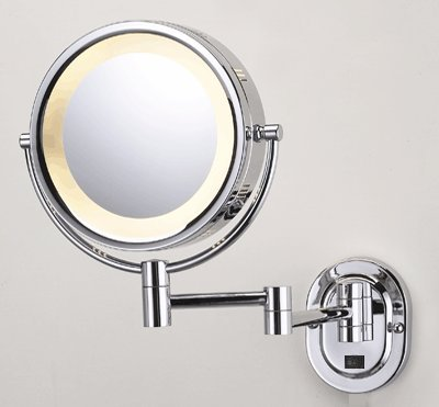 "Seeall 8"" Chrome Finish Dual Sided Surround Light Wall Mount Makeup Mirror (Hardwired Model) front-95705"