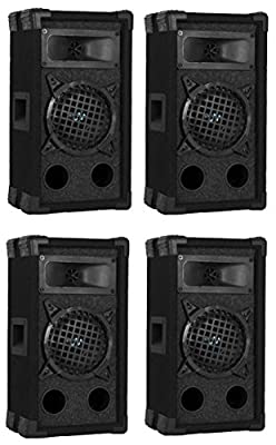 "4) VM Audio VAS36P 600 Watt 2 Way 6"" DJ Passive Loud PA Stage Speakers System"