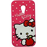 MACC Designer 3D Disney Soft Silicon Back Cartoon Cover Case For Motorola Moto G (2nd Generation) - Hello Kitty...