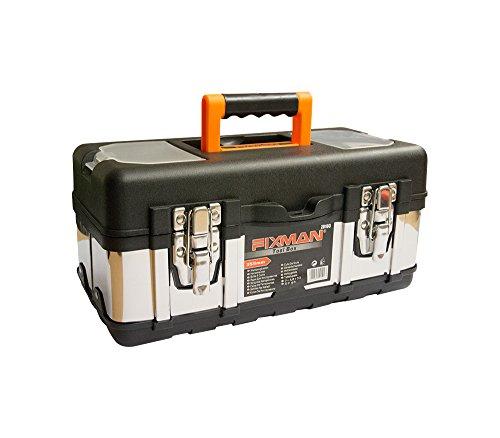 Kunsstoff-und-Metallhaltige-Werzeugkiste-Fach-fr-die-Lagerung-von-Werkzeugen-WerkzeugkofferWerkzeugbox-leer