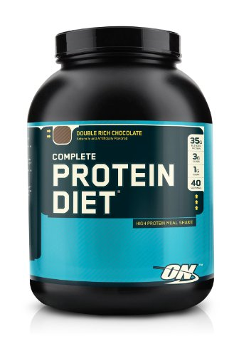 Optimum Nutrition Complete Protein Diet Meal Shake Mix, Double Rich Chocolate, 4.3 Pound