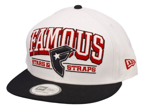 FAMOUS - NEW ERA snap back - REIGN - WHITE/BLACK/RED