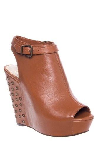 Jessica Simpson Lowry Studded High Wedge Slingback Open Toe Shootie