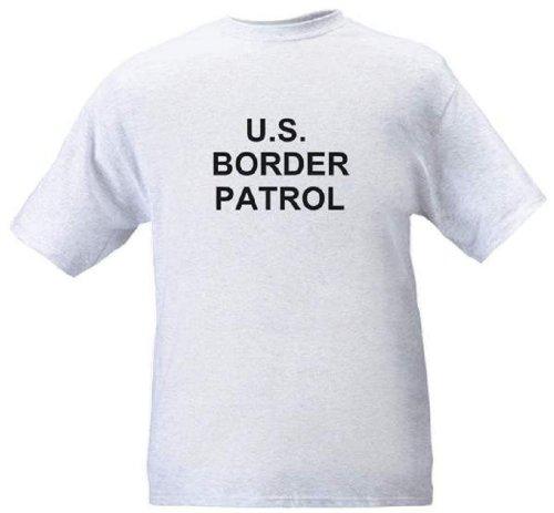 U.S. Border Patrol - Law Enforcement Gear - Heather Grey T-Shirt - Size Large