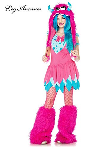 [Tween 2 Piece Mischief Monster Child Costume] (Red Furry Monster Costume)