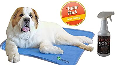 The Green Pet Shop Self Cooling Pet Pad, X-Large, Plus 16oz Ah! Odor Eliminator
