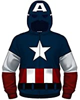 Marvel Avengers Captain America Sweatshirt Zip up Hoodie Boys (TODDLER-JUVY-YOUTH)