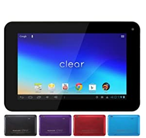 """FileMate Clear 7"""" Tablet IPS Screen with 16GB Memory and Google Mobile Services, Assorted Colors (Black/Red/Purple/Blue)"""