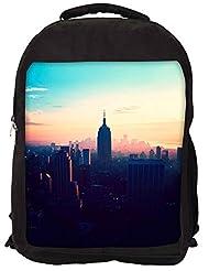 Snoogg New York New York Backpack Rucksack School Travel Unisex Casual Canvas Bag Bookbag Satchel