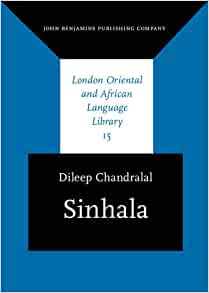 Amazon.com: Sinhala (London Oriental and African Language