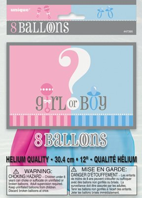 Gender Reveal 8ct Pkg