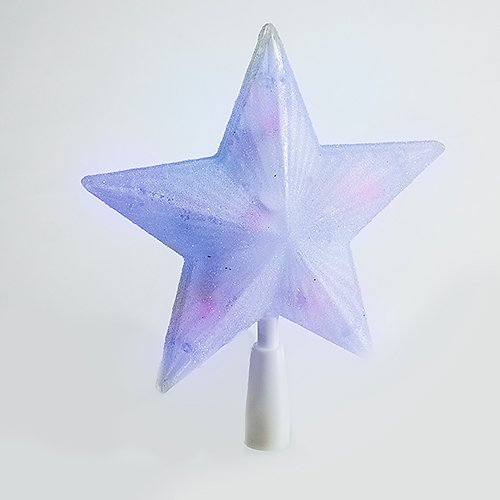 10 Cool White Led Lights Sugar Frosted Star Tree Topper