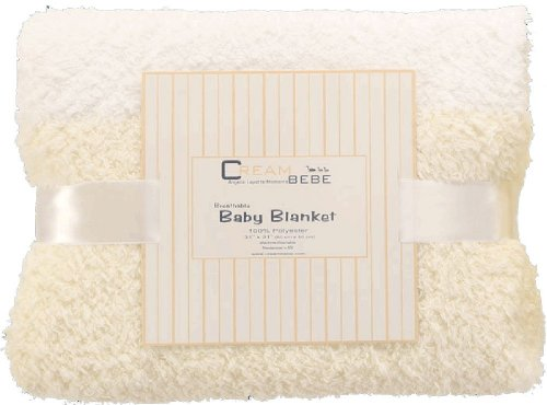 Breathable Fuzzy Baby Blanket (Ivory)
