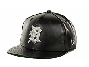 Buy Detroit Tigers New Era MLB Fauxe Leather 9FIFTY Snapback Cap by New Era