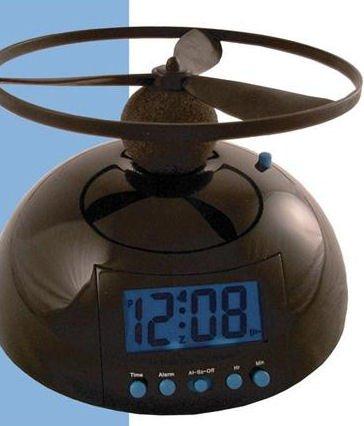 PROFI Helikopter Hubschrauber UFO Wecker Alarm Geschenk Uhr Datum Kinder Stand