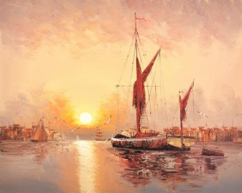 oil-painting-wall-sunset-seascape-with-sailing-ships-10-x-12-inch-25-x-32-cm-on-high-definition-hd-c