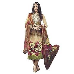 Like a diva JINAAM Sky Blue Cotton Party Wear Salwar Kameez / Churidar Dress material