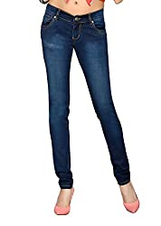 Dragaon Women's Stretchable Skinny Fit Jeans-Dark Blue-D-5319-Size-30