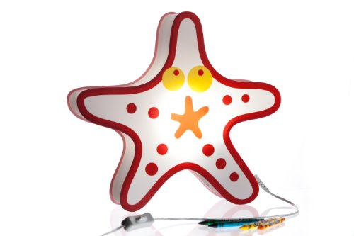 Nursery Lamp & Kid's Room Lamp - Colorful LED Decorative Lamp - Starfish Design