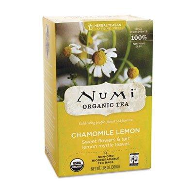 Numi Organic 10150 Organic Teas and Teasans, 1.8 oz, Chamomile Lemon, 18/Box