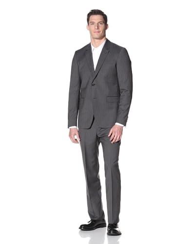 Moschino Men's Pinstripe Suit  [Dark Grey]