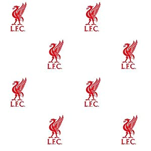 Liverpool F.C. Wallpaper- wallpaper- width 52cm- length 10.05m- pattern repeat 17.5- official licensed product from Wallpaper / Lighting