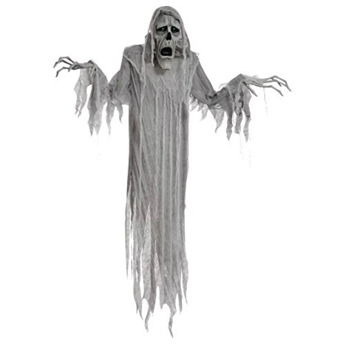 [72 Inch Light Up Hanging Scary Phantom for Haunted House Halloween Props Yard Decor] (Ideas For Homemade Group Halloween Costumes)