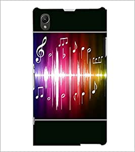 PrintDhaba Music D-1413 Back Case Cover for SONY XPERIA Z1 (Multi-Coloured)