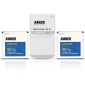 Anker® 2 x 1900mAh Li-ion Batteries for HTC Sensation, Sensation XE, EVO 3D, Mytouch 4G Slide, Amaze 4G + Free Anker Multi-purpose USB Travel Charger