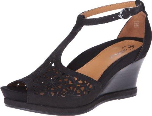 Earthies Women's Casella Black Nubuck Sandal 7.5 M