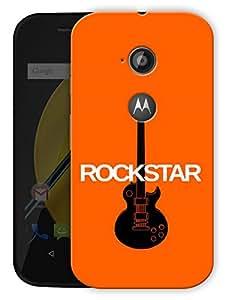 "Rockstar Guitar Printed Designer Mobile Back Cover For ""Motorola Moto E2"" By Humor Gang (3D, Matte Finish, Premium Quality, Protective Snap On Slim Hard Phone Case, Multi Color)"