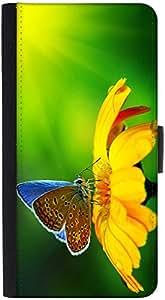 Snoogg Butterfly In Sunflower Designer Protective Phone Flip Back Case Cover For Lenovo Vibe K4 Note