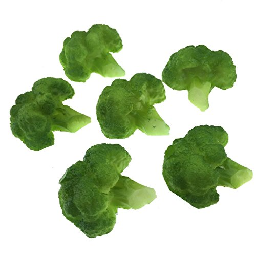 Gresorth 6pcs Artificiel Lifelike Brocoli Décor Faux Légume Maison Fête Festival Décoration