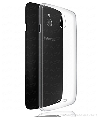 Jkobi Soft Silicone TPU Jelly Crystal Clear Case Soft Back Case Cover For InFocus M2 / M 2 - Transparent  available at amazon for Rs.99