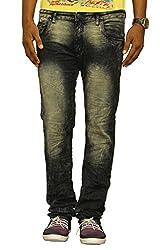 Jugend Green Stretchable Washed Slim Fit Jeans for men