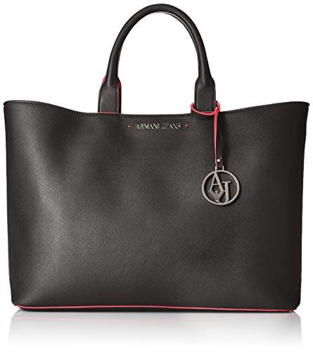 ARMANI JEANS Borsa shopping a mano in saffiano NERO 922532