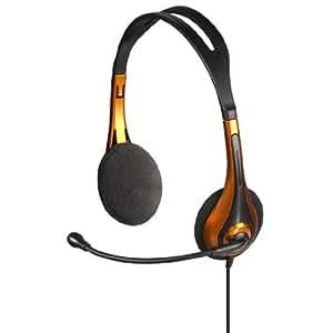 Hama PC-Headset HS-250, stereo, orange/schwarz