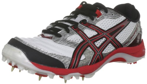 Asics Men's Gel Advance 4 White/Red/Black Cricket Shoe P114Y 0129 10 UK