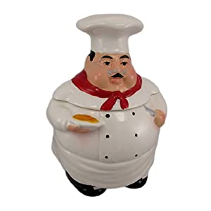 Tuscany Fat Chef Cookie Jar Canister, 64 oz. by ACK