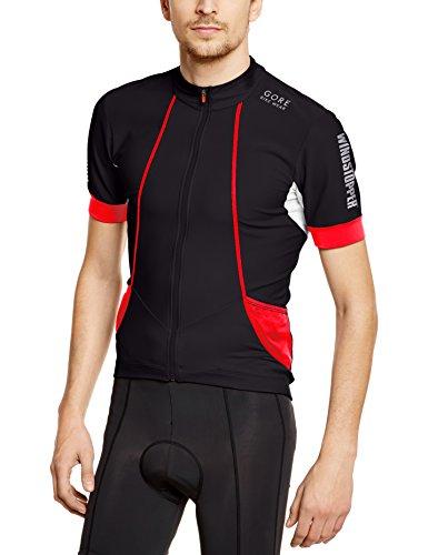 Gore Bike Wear Smwoxy Oxygen Windstopper Soft Shell Maglia, Uomo, Nero (Black/Red), S