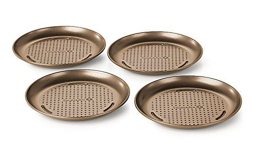 Simply Nonstick 4-Piece Personal Pizza Pan Set (Personal Pizza Pan compare prices)
